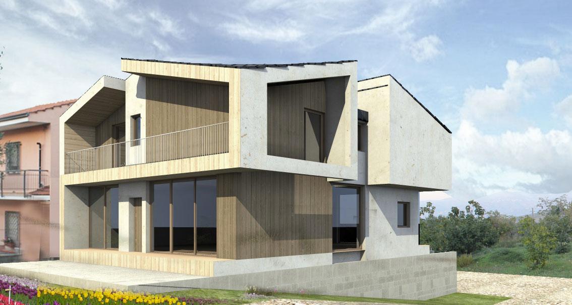 Progettazione casa in legno stile moderno
