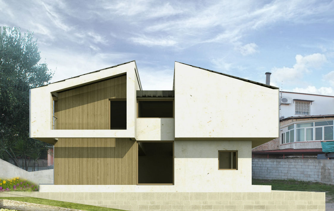 Cheap casa in legno stile moderno with tetti in legno moderni for Casa legno antisismica costo